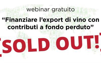 [Sold out!] Webinar OcmVino su finanziamenti a fondo perduto per export