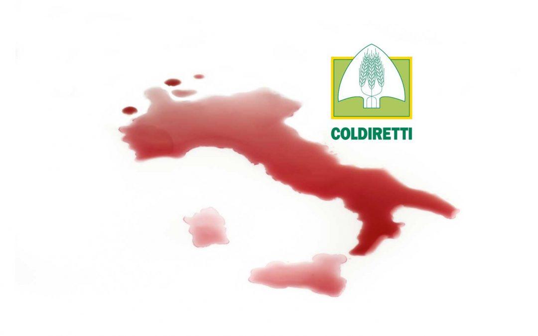 """Coldiretti: """"senza turisti e ristoranti cambiano i consumi di vino"""""""