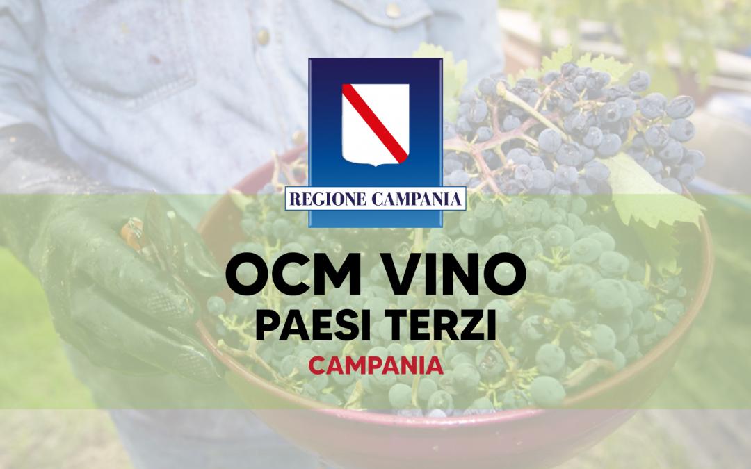 Ocm Vino Paesi Terzi Campania: 2 milioni di euro per il bando 2021 – 2022