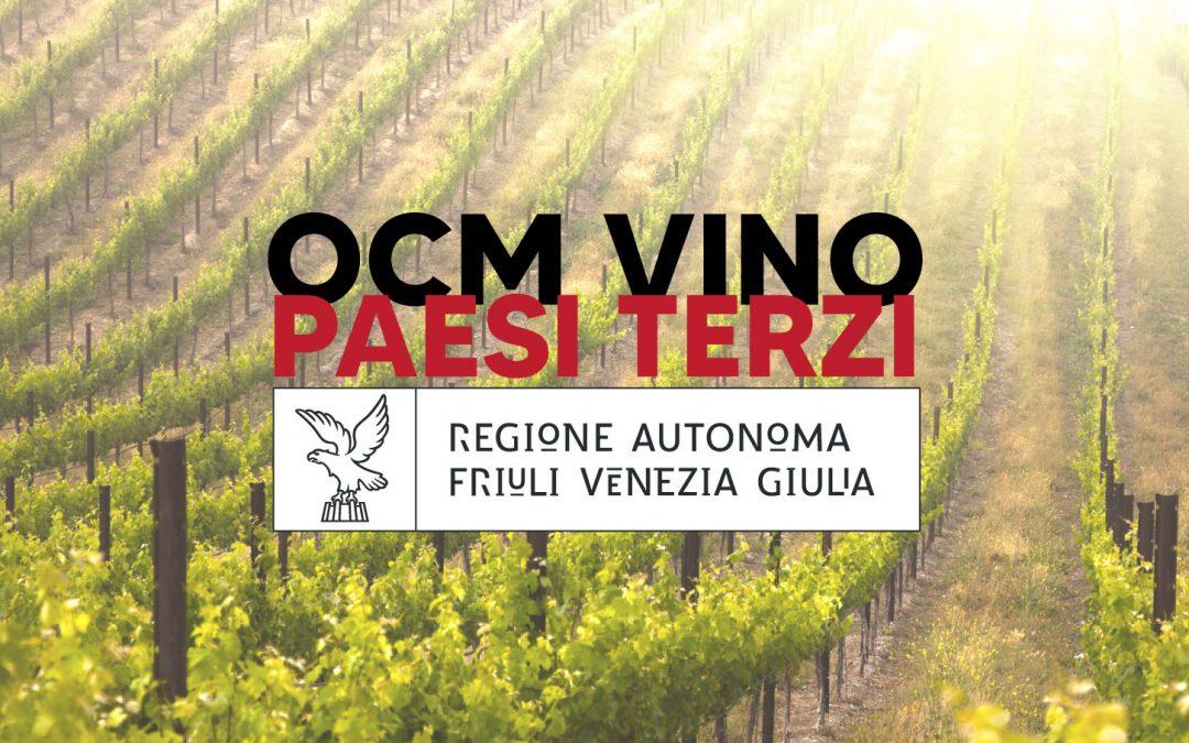 Ocm Vino Paesi Terzi: dotazione straordinaria per Friuli Venezia Giulia