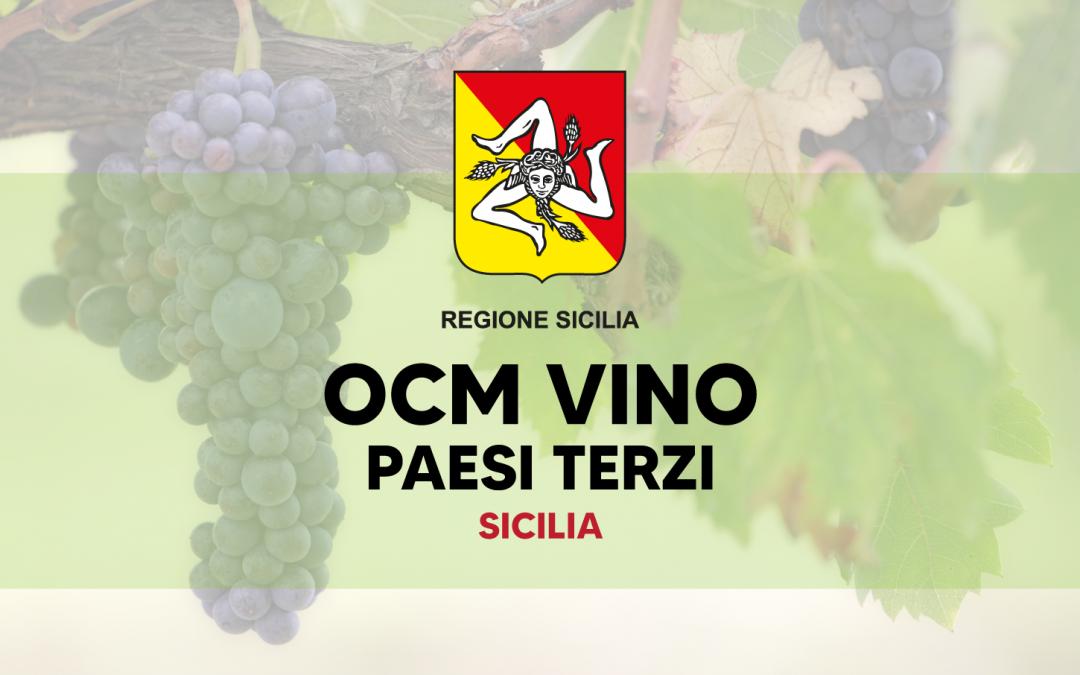Ocm Vino Paesi Terzi 2021 – 2022 Sicilia: bando completo da scaricare